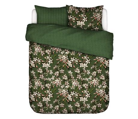 ESSENZA Housse de couette Verano vert multicolore textile 240x220cm - avec 2x taies d'oreiller 60x70cm
