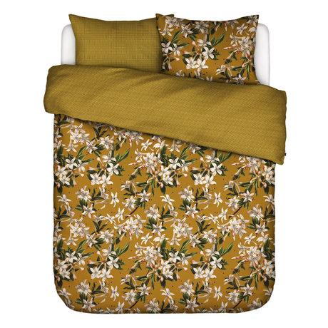 ESSENZA Housse de couette Verano ocre jaune multicolore 200x220cm - avec 2x taie d'oreiller 60x70cm