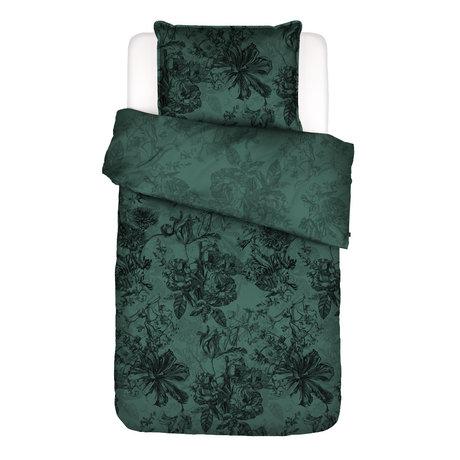 ESSENZA Dekbedovertrek Vivienne groen textiel 140x220cm - incl. kussensloop 60x70cm