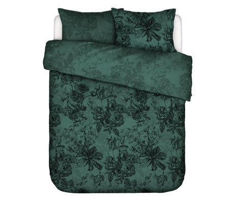 ESSENZA Duvet cover Vivienne green textile 260x220cm - incl. 2x pillowcase 60x70cm