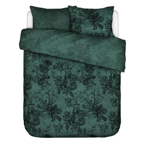 ESSENZA Housse de couette Vivienne vert textile 260x220cm - 2x taies d'oreiller 60x70cm