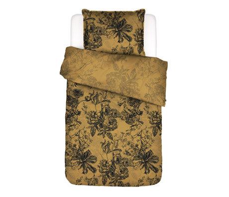 ESSENZA Enveloppe de couette Vivienne en textile jaune 140x220cm - Taie d'oreiller incluse 60x70cm