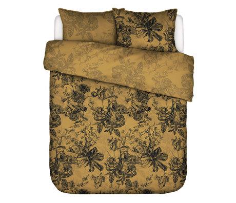 ESSENZA Housse de couette Vivienne textile ocre jaune 200x220cm - avec 2x taies d'oreiller 60x70cm