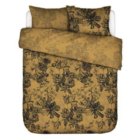 ESSENZA Duvet cover Vivienne yellow ocher textile 200x220cm - incl. 2x pillowcase 60x70cm