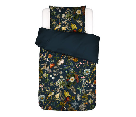 ESSENZA Housse de couette Xess, bleu foncé, textile multicolore 140x220cm - Taie d'oreiller incluse 60x70cm