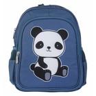 A Little Lovely Company Rucksack Panda blau Polyester 27x32x15cm