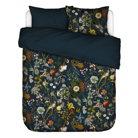 ESSENZA Housse de couette Xess en textile multicolore bleu foncé 240x220cm - avec 2x taie d'oreiller 60x70cm