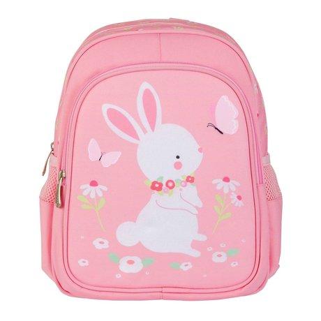 A Little Lovely Company Rugzak Bunny roze polyester 27x32x15cm