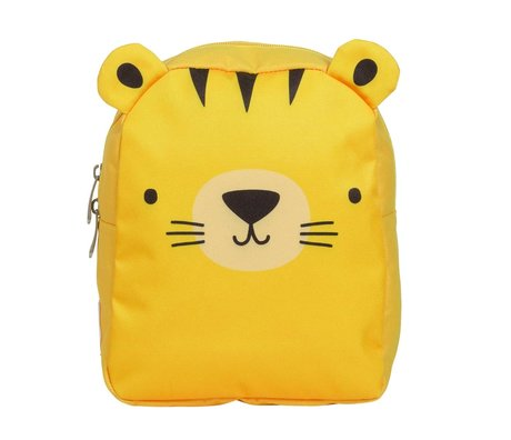 A Little Lovely Company Sac à dos Tiger jaune polyester 21x26x10cm