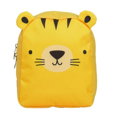 A Little Lovely Company Rucksack Tiger gelb Polyester 21x26x10cm