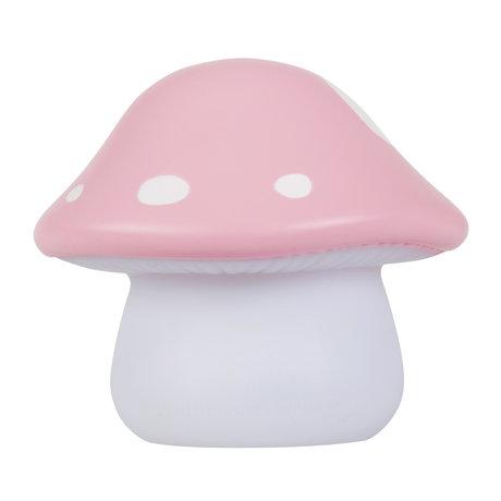 A Little Lovely Company Nachtlicht Pilz rosa weiß klein 11x10x11cm