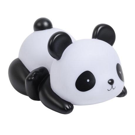 A Little Lovely Company Tirelire Panda en plastique noir et blanc 16x9x11cm
