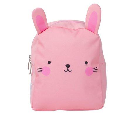 A Little Lovely Company Rugzak Bunny roze polyester 21x26x10cm