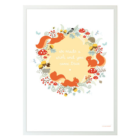 A Little Lovely Company Poster Squirrel forest multicolour papier 50x70cm
