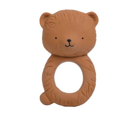 A Little Lovely Company Bijtring Bear natuurlijk rubber 6,3x10x4cm