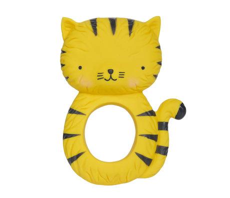 A Little Lovely Company Bijtring Tiger natuurlijk rubber 7,5x10,3x3,7cm