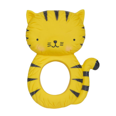 A Little Lovely Company Teether Tiger natural rubber 7.5x10.3x3.7 cm