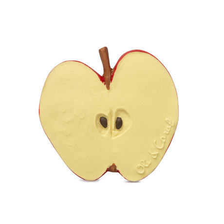 Oli & Carol Bath and bite toy Pepita the apple yellow red natural rubber 8x0.6x7.7 cm