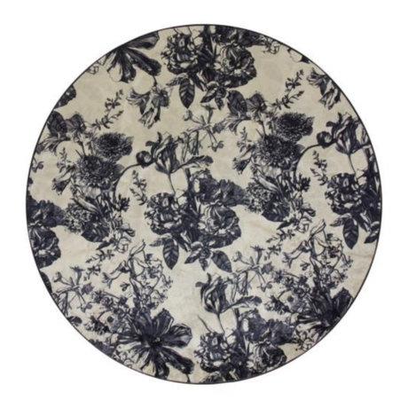 ESSENZA Tapis autour de Vivienne écru textile gris anthracite blanc S Ø90cm