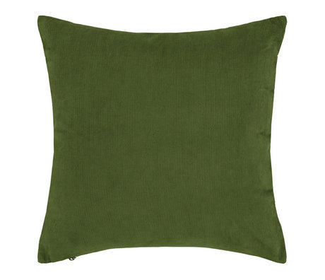 ESSENZA Cushion Riv moss green corduroy cotton 45x45cm