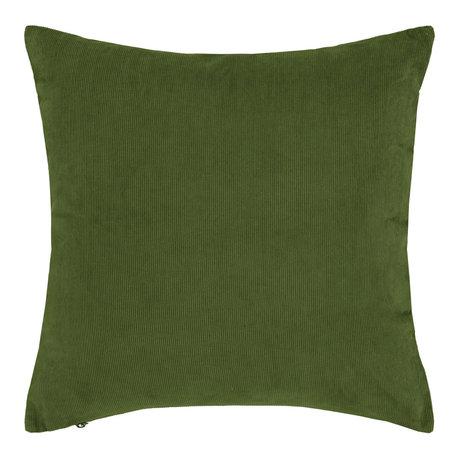 ESSENZA Coussin Riv coton velours côtelé vert mousse 45x45cm