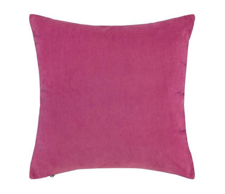 ESSENZA Cushion Riv fuchsia pink corduroy cotton 45x45cm