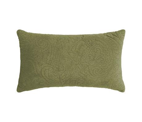 ESSENZA Coussin décoratif Roeby vert mousse velours polyester 30x50cm