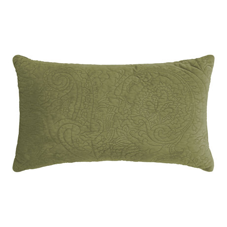 ESSENZA Decorative pillow Roeby moss green velvet polyester 30x50cm
