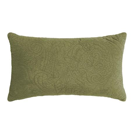 ESSENZA Dekokissen Roeby Moosgrün Samt Polyester 30x50cm