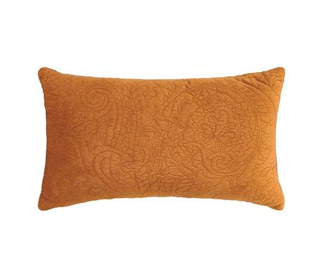 ESSENZA Sierkussen Roeby leather bruin velvet polyester 30x50cm