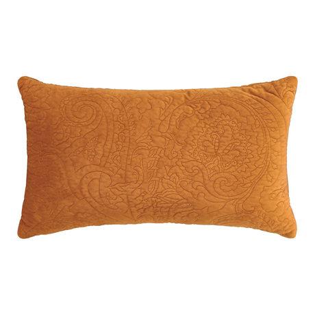 ESSENZA Coussin décoratif cuir Roeby velours marron polyester 30x50cm