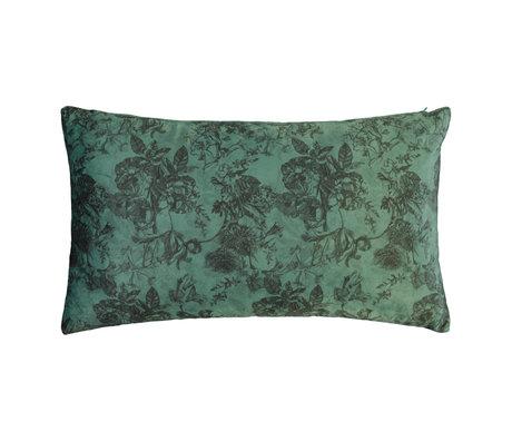 ESSENZA Cushion Vivienne green velvet polyester 30x50cm