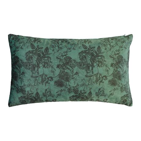 ESSENZA Coussin Vivienne velours vert polyester 30x50cm