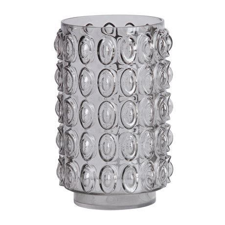 BePureHome Vase Bumps L graues Glas ø19x29cm