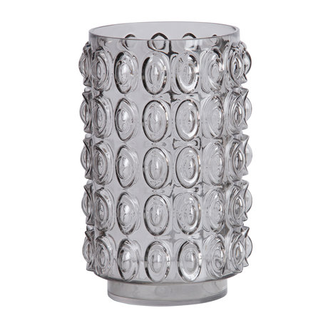 BePureHome Vase Bumps L gray glass ø19x29cm