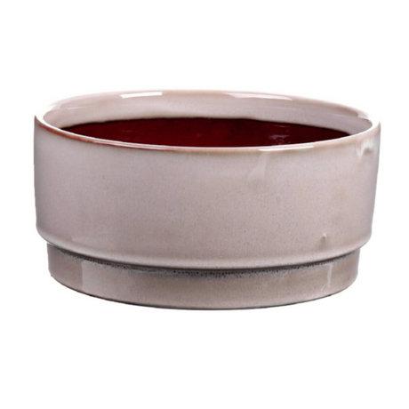 wonenmetlef Pot Avelon beige ceramic Ø21.5x10cm
