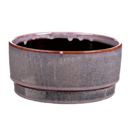 wonenmetlef Pot Avelon en céramique violet Ø21.5x10cm