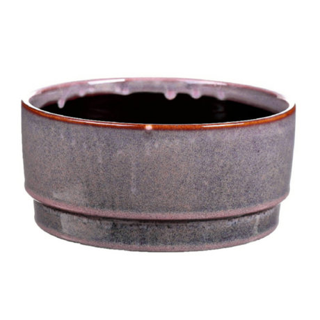 wonenmetlef Pot Avelon purple ceramic Ø21.5x10cm