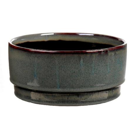 wonenmetlef Pot Avelon vert en céramique Ø21.5x10cm
