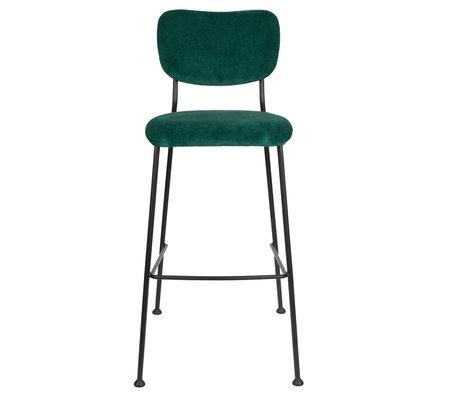 Zuiver Barkruk Benson groen textiel 48x55,5x102,2cm