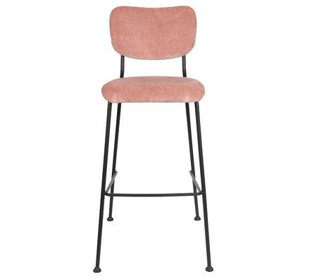 Zuiver Barstool Benson pink textile 48x55.5x102.2 cm