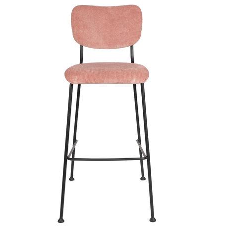 Zuiver Barkruk Benson roze textiel 48x55,5x102,2cm