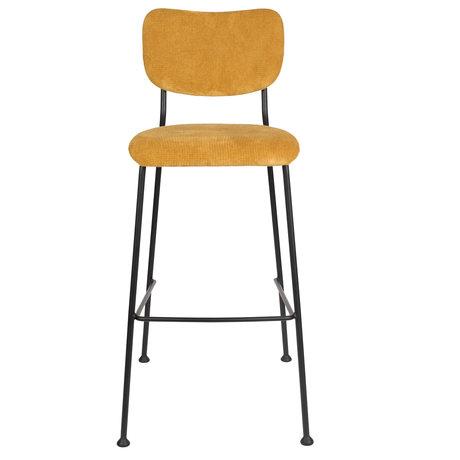 Zuiver Barstool Benson ocher yellow textile 48x55.5x102.2cm