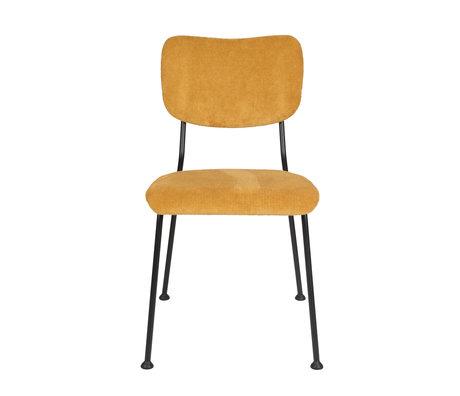 Zuiver Dining room chair Benson ocher yellow textile 55.5x56x81cm