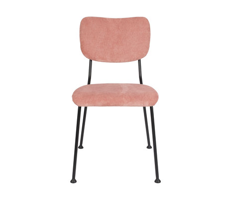 Zuiver Dining room chair Benson pink textile 55.5x56x81cm