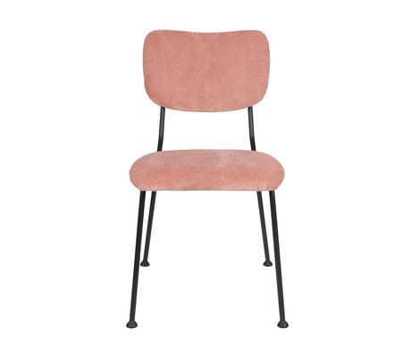 Zuiver Eetkamerstoel Benson roze textiel 55,5x56x81cm