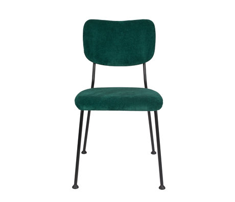 Zuiver Dining room chair Benson green textile 55,5x56x81cm