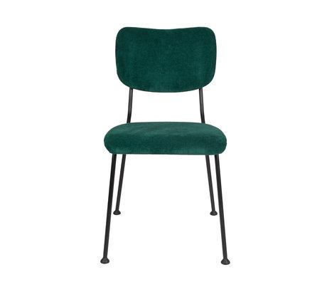 Zuiver Eetkamerstoel Benson groen textiel 55,5x56x81cm