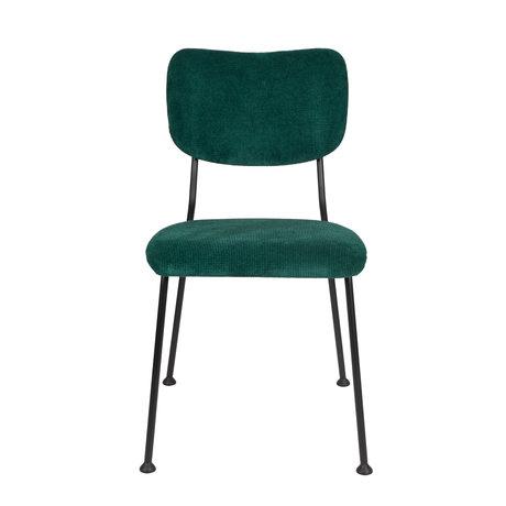 Zuiver Esszimmerstuhl Benson grün Textil 55,5x56x81cm