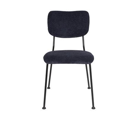 Zuiver Chaise de salle à manger Benson textile bleu foncé 55,5x56x81cm